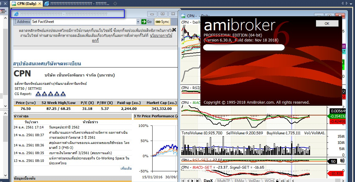 Unknown character on IE browser in Amibroker 6 30 - AmiBroker